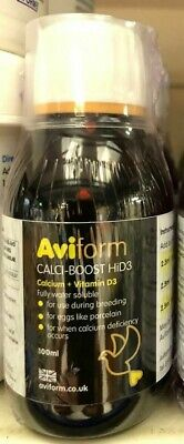 Aviform CalciBoost Pigeon CalciForm HiD3 New Formula Calcium Racing Pigeons BMFD