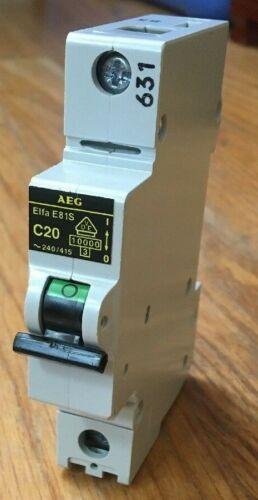 AEG ME81S C20 Circuit Breaker E81S 1 Pole 20 Amps EEControls