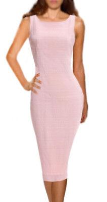 70% OFF DOLCE & GABBANA ITALY Pink wool viscose stretch dress IT sz 44-46