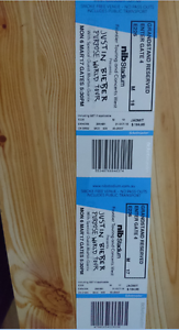 x2 Justin Bieber Tickets GrandStand Reserved E226 (M17&M18) Perth Tapping Wanneroo Area Preview