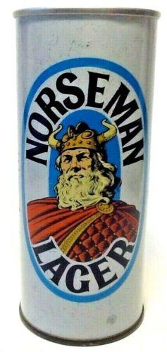 NORSEMAN LAGER - early pull tab - Beer Can - Edinburgh Scotland - 15.5 oz