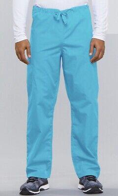 Cherokee Unisex Drawstring Cargo Pants, Torquoise (4100) * 4100 Unisex Drawstring Pant