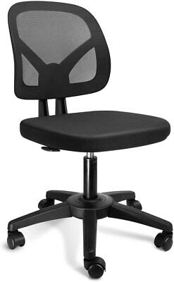 Kolliee Armless Mesh Office Chair Ergonomic Comfortable Armless Desk Chair Small