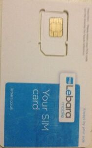 BRAND NEW LEBARA SIM CARD WITH £5.00 CREDIT FOR £2.9