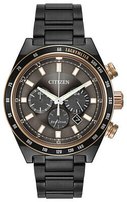 Citizen Eco-Drive Men's Chronograph Rose Gold Accents 42mm Watch CA4207-53H