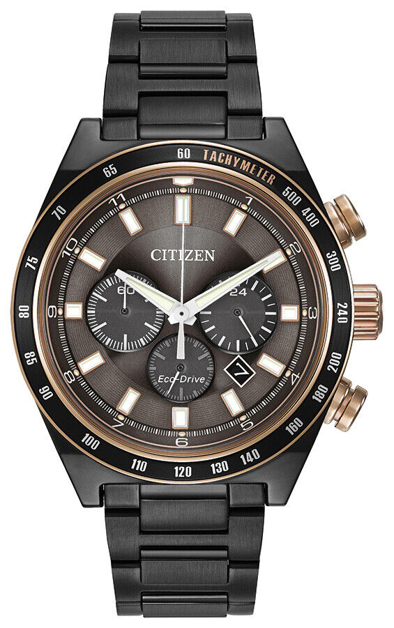 Citizen Men's Chronograph Eco-Drive Grey Ion-Plated