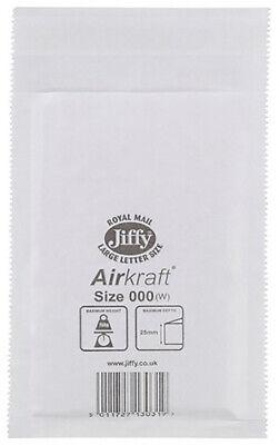 Jiffy Bag Size 000 Pack 150 Airkraft Bubble Postal Bag JL-000 #390125 (120x160mm