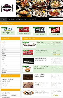 Restaurant Directory Website Business For Sale Mobile Friendly Website