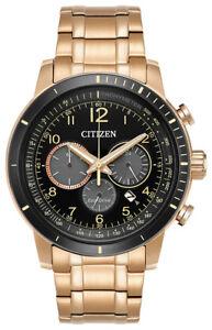 Citizen Eco-Drive CA4359-55E Men's Brycen Chronograph Rose Gold-Tone 44mm Watch