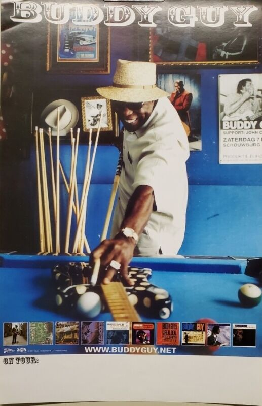 BUDDY GUY 2007 2 sided promotional collection/tour poster New Old Stock Flawless