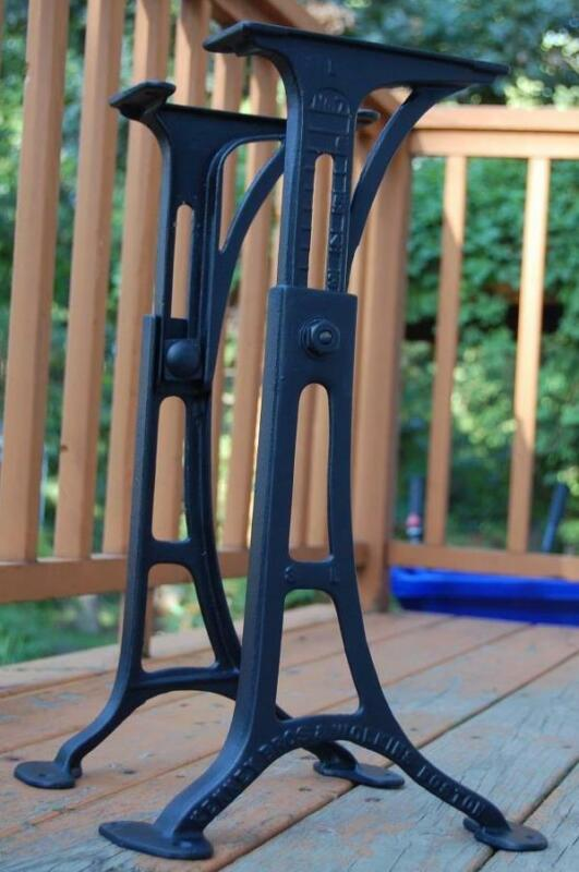 Cast iron Kenney Wolkins No.7 Legs Table Base Machine Age Industrial Steampunk