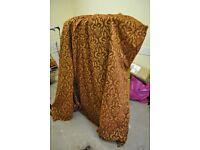 Heavy fabric long length John Lewis single curtain - fully lined