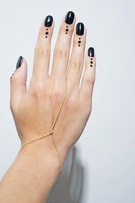 Armband Ring Sklavenarmband Sklave Handschmuck Kettchen Gold Silber