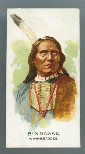 """1888 N2 American Indian Chiefs """"Big Snake - Winnebagoes"""" GOOD *AA-13201*"""