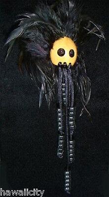 Hawaiian Natural  Black Ikaika Warrior Helmet from Hawaii