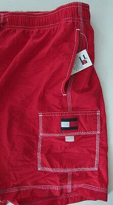 NWT Tommy Hilfiger Men's Swim Shorts Trunks Red Size L