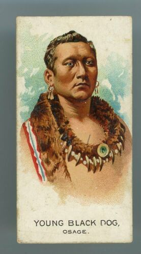 """1888 N2 American Indian Chiefs """"Young Black Dog - Osage"""" VERY GOOD **AA-13169**"""
