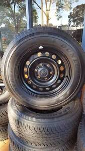 17X7.5 NEW HILUX STEEL WHEELS & 265/65R17 112S DUNLOP AT25 TYRES Penrith Penrith Area Preview