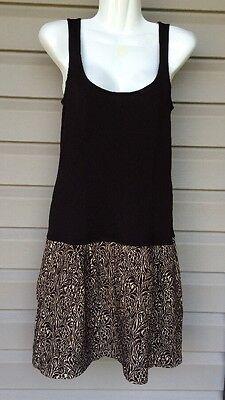 DIANE VON FURSTENBERG SHAY DROP WAIST TANK SLEEVELESS DRESS BROWN SZ 4 NEW! $385
