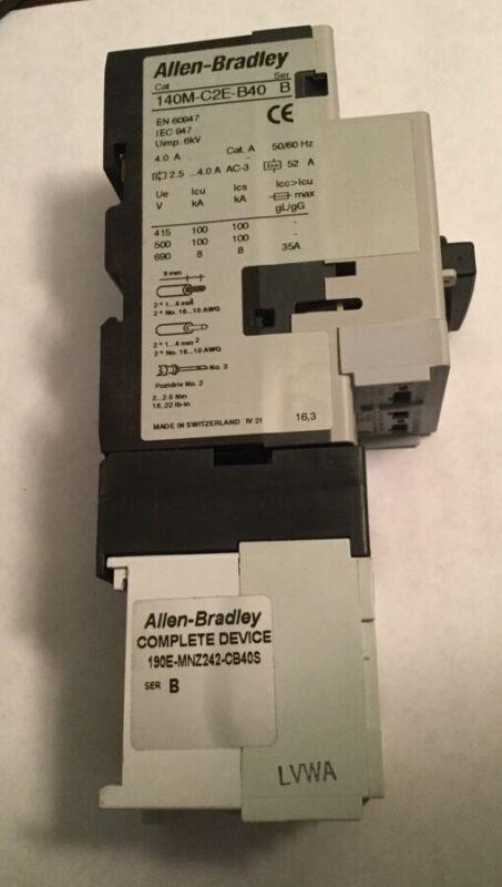 Allen Bradley 190E-MNZ242-CB40S Motor Starter 2.5-4.0A
