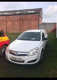 Vauxhall astra van 1.2cdti 58 plate