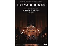2 x FREYA RIDINGS TICKETS - UNION CHAPEL LONDON - THURSDAY 3 MAY - SOLD OUT SHOW!