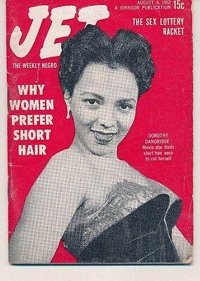 JET MAGAZINE August 6 1953 Dorothy Dandridge short hair sex lottery racket