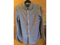 Genuine Ralph Lauren Polo Boys Age 14-16(L) Blue & White Checked Shirt, Superb condition