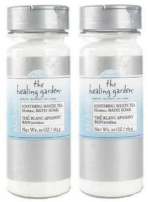 2 HEALING GARDEN COLLECTION WHITE TEA MINERAL BATH SOAK RELAX FREE SHIPPING
