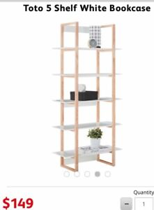 f261f0bf6a Toto 5 Shelf White Bookcase. Only 2 months old. Rrp$149 ...
