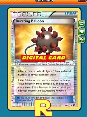 Bursting Balloon (FOIL) - for Pokemon TCG Online ( DIGITAL ptcgo in Game )](Balloons Online)
