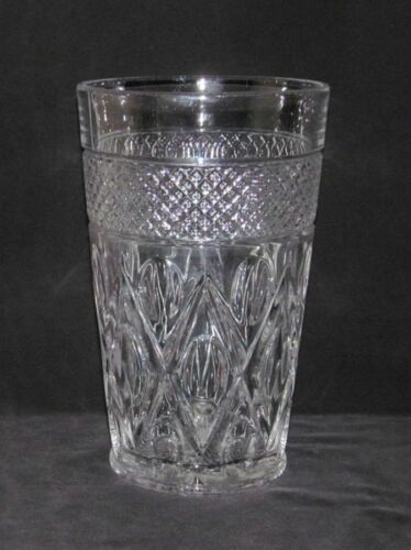 Imperial Glass CAPE COD Crystal Tall Straight-Sided Flat Flower Vase