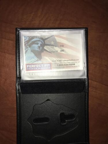 Fire Department Firefighter Perfect Fit Badge Wallet Style 110 Cut 496
