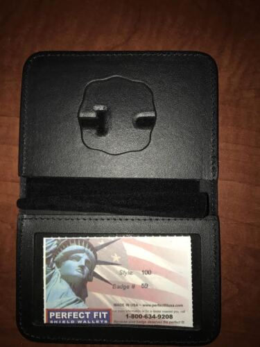 Fire Department Firefighter Perfect Fit Badge Wallet Style 100 Cut 59
