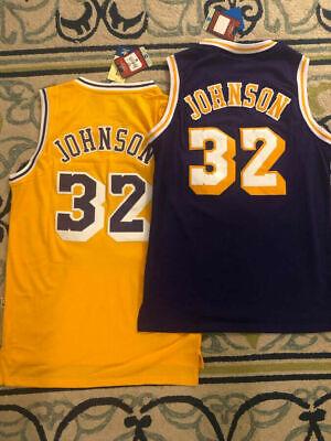 NWT #32 Earvin Magic Johnson Los Angeles Lakers Throwback