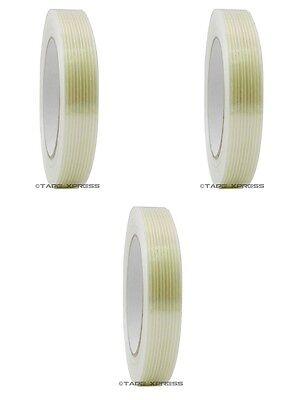 3 Rolls 34 X 60 Yd Filament Reinforced Strap Fiberglass Tape 3.9 Mil Free Ship
