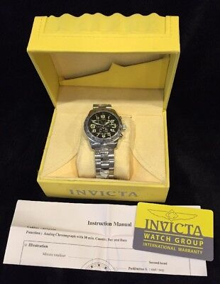 INVICTA MEN'S 6076 FLAME FUSION CRYSTAL CHRONOGRAPH, NEW