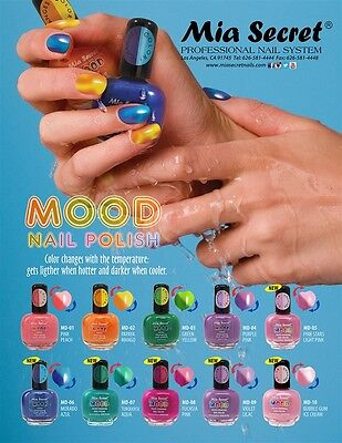 Mia Secret   Mood Nail Lacquer Color Changing Nail Polish 10 Colors Pick Yours
