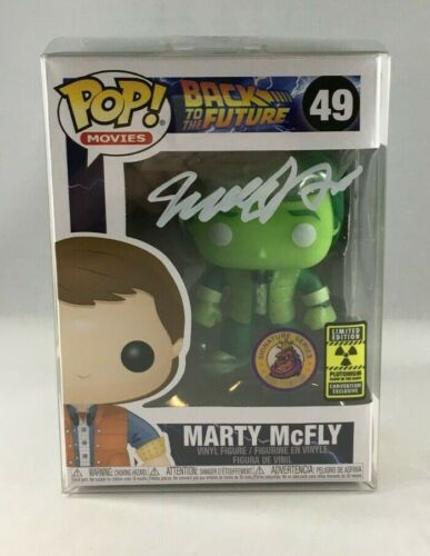 FUNKO POP! MARTY MCFLY PLUTONIUM GITD PLASTIC EMPIRE LIMITED TO 200 SIGNED JSA
