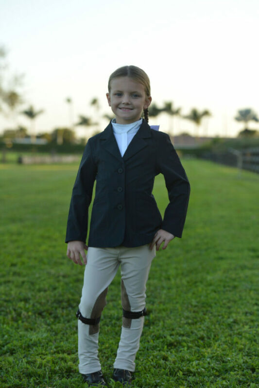 Belle & Bow Equestrian Childs Show Jacket  - Navy