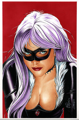 ACK CAT Lithograph by Billy Tucci (Hot Black Cat Marvel)