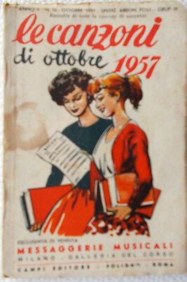 Broschüre die Lieder von Oktober 1957/10 Messaggerie Musikinstrumente