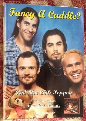 RED HOT CHILI PEPPERS One Hot Minute 1995 magazine ADVERT / Poster 11x8 inches