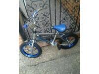 Childs bmx chrome framed bike