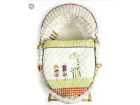 Brand new sealed mamas and papas jamboree Moses basket with quilt