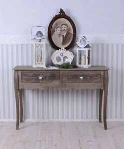 tavolino tavolo consolle stile country shabby vintage legno antico ebay. Black Bedroom Furniture Sets. Home Design Ideas
