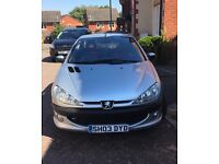 Peugeot 206 cc hard top convertable perfect for the summer