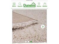 Dunelm slumber rug in natural