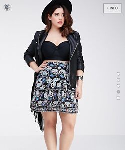 XL and 1X paisley skirt, forever 21 - new with tags