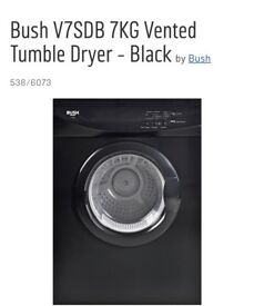 Bush black like new tumble dryer